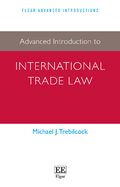 Cover Advanced Introduction to International Trade Law