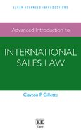 Cover Advanced Introduction to International Sales Law