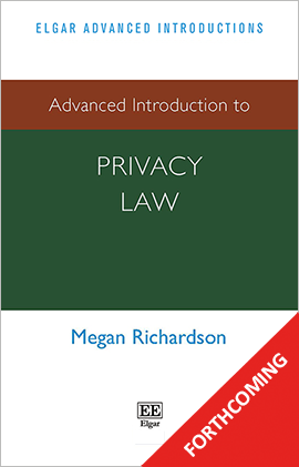 Advanced Introduction to Privacy Law