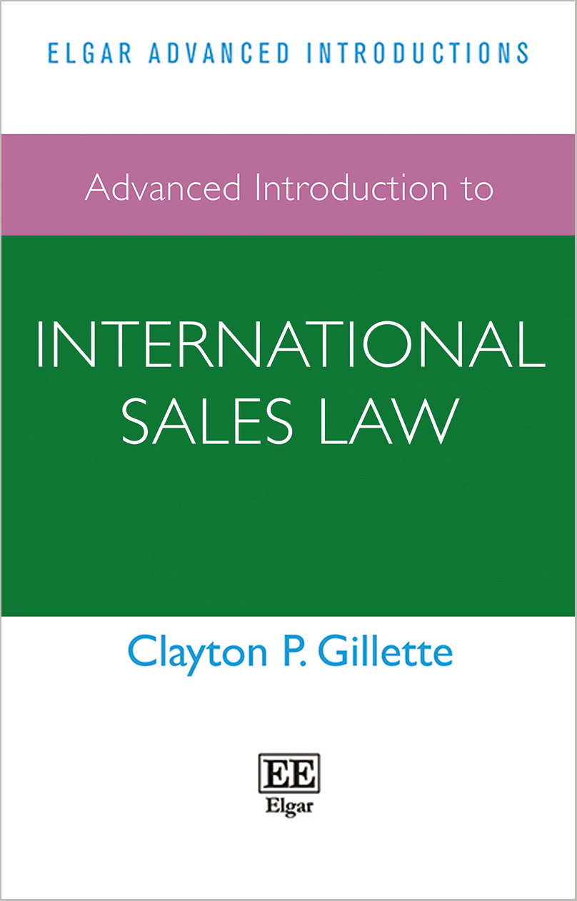 Advanced Introduction to International Sales Law